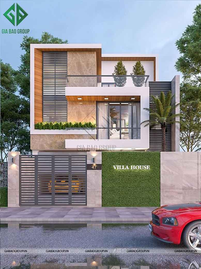 Căn nhà được làm từ vật liệu cao cấp và đảm bảo tính thẩm mỹ