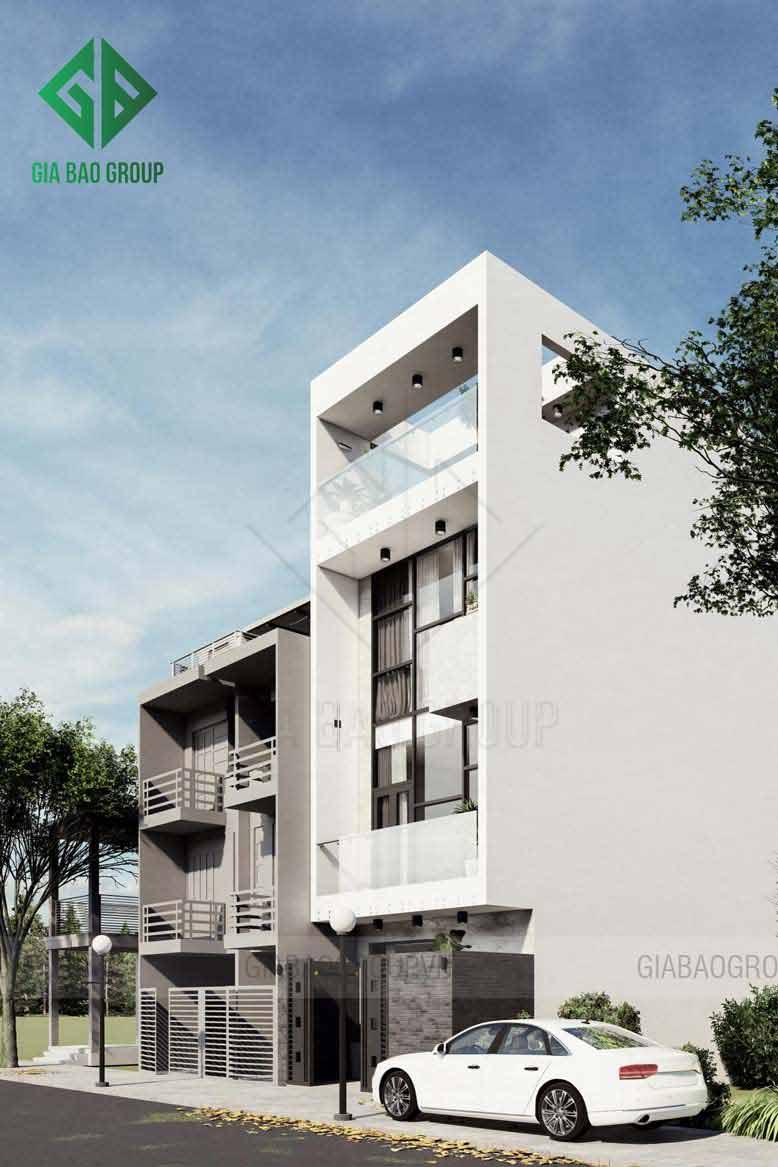 Gam màu trong thiết kế nhà phố 4 tầng được phối hợp tinh tế hài hoà