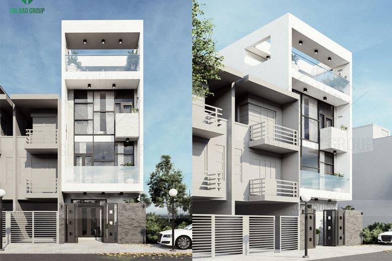 Thiết kế nhà phố 4 tầng hiện đại siêu ấn tượng tại Hóc Môn