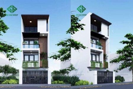 Thiết kế nhà phố 4 tầng đẹp – Chú Hiếu , Long Khánh, Mã NP130
