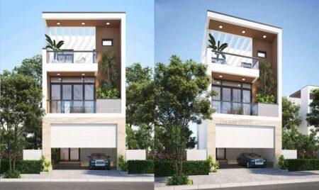 Thiết kế nhà phố 6m x 15m phong cách hiện đại- anh Trung, Long An