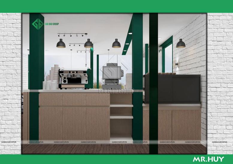Trang trí quầy bar chuỗi quán cafe ICED Coffee mang phong cách Châu Âu