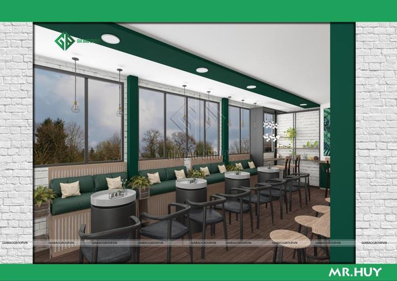 Nội thất trong thiết kế quán cafe ICED Coffee phù hợp nhóm bạn