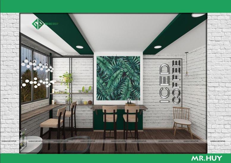 Thiết kế nội thất chuỗi quán cafe ICED Coffee màu sắc ấn tượng, nổi bật tên thương hiệu