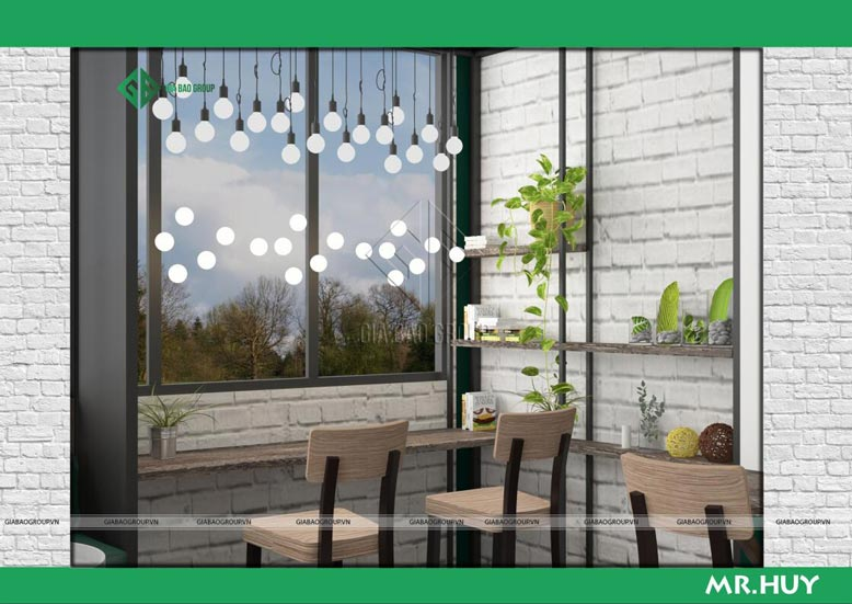 Trang trí nội thất chuỗi quán cafe ICED Coffee ấn tượng, khoa học