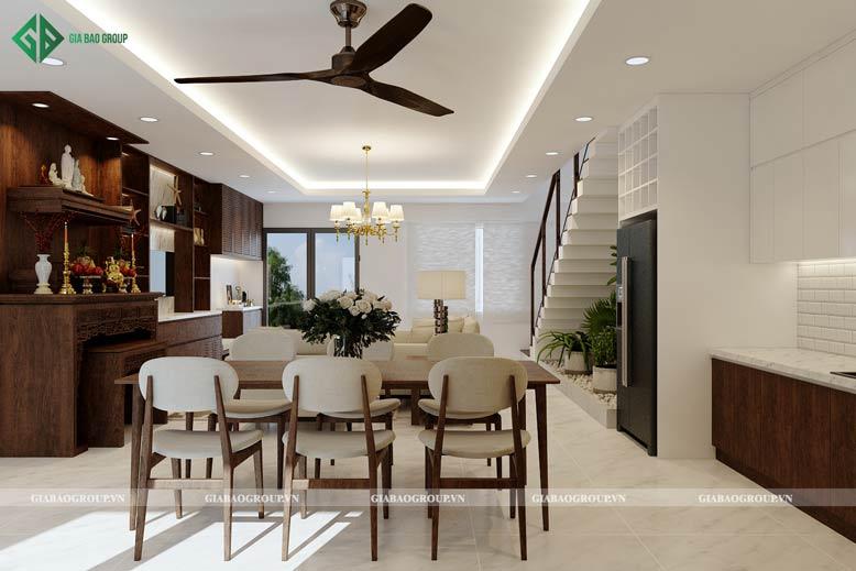 Nội thất chi tiết nhà 2 tầng đẹp hiện đại