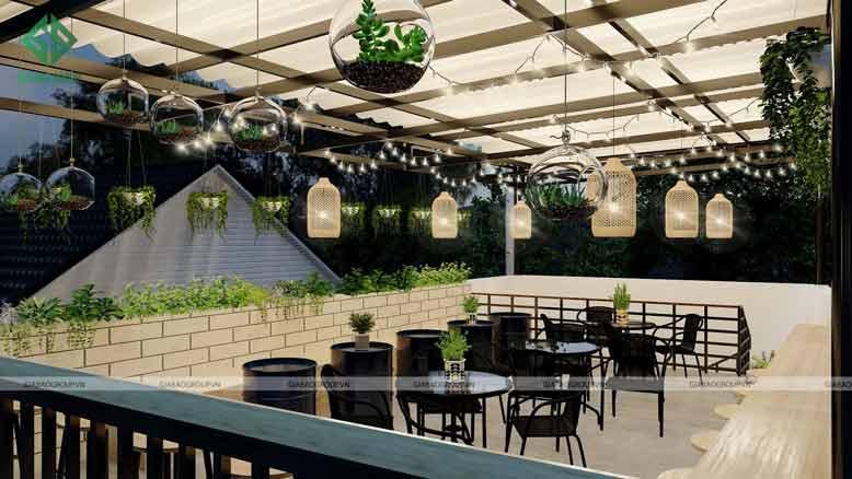 Thiết kế quán cafe đẹp tiết kiệm chi phí