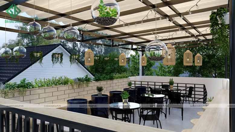 Thiết kế quán cafe đẹp và thoáng mát