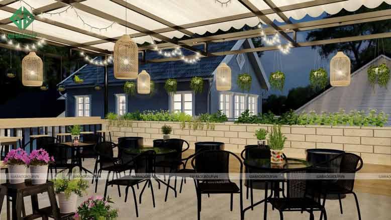 Thiết kế quán cafe đẹp chính là điểm nhấn của quán cà phê