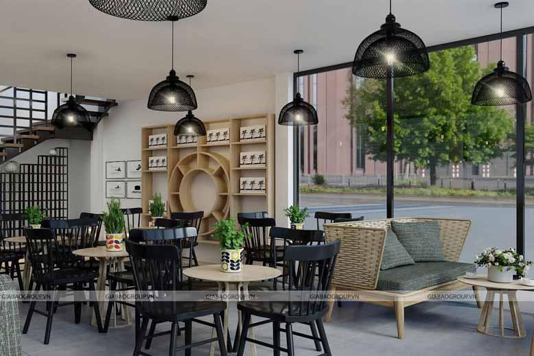Mẫu thiết kế quán nội thất cà phê đẹp ở trung nguyên