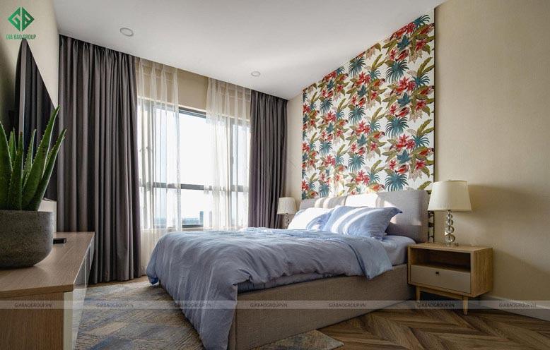 Thiết kế thi công nội thất căn hộ cao cấp với phòng ngủ master: Nhẹ nhàng, chan hòa ánh sáng tự nhiên