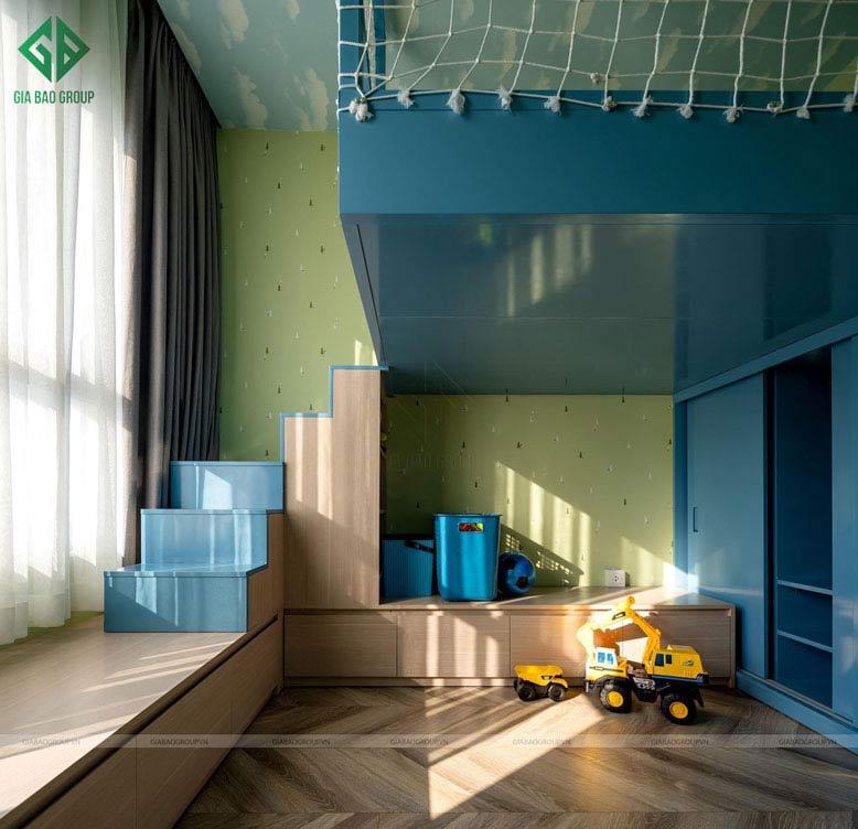 Không gian vui chơi trong thiết kế thi công căn hộ cao cấp