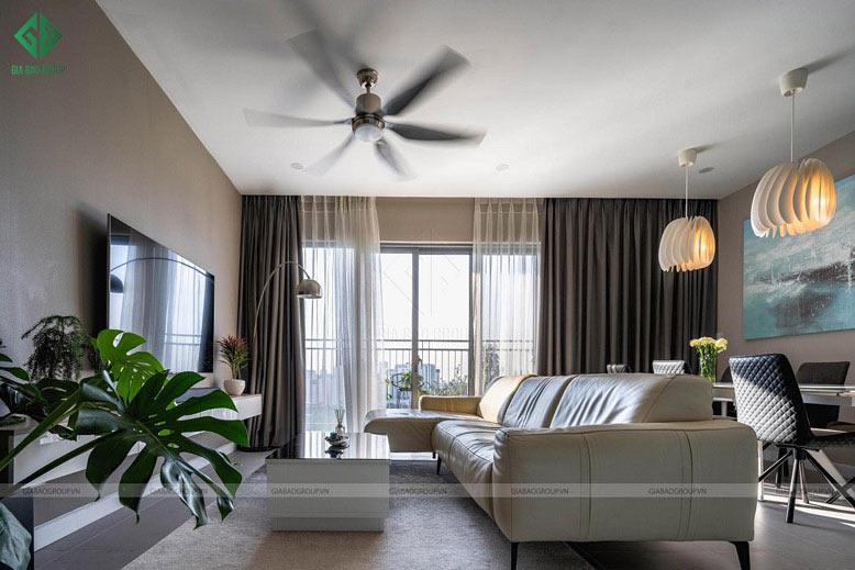 Thiết kế thi công nội thất căn hộ cao cấp 2 phòng ngủ – quận 2, TPHCM