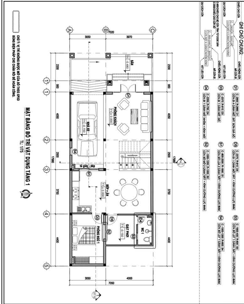 Công trình thiết kế thi công biệt thự phố 2 tầng