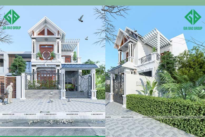 Thi công biệt thự phố 2 tầng đẹp và hiện đại tại Hóc Môn