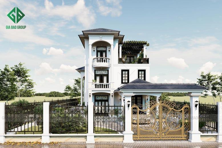 Biệt Thự 3 Tầng Mái Thái Có Sân Vườn – Chị Hoà, TP Long Khánh, Mã BT136