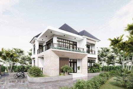Mẫu biệt thự 1 trệt 1 lầu đẹp – Anh Trọng, Lâm Đồng, Mã BT132