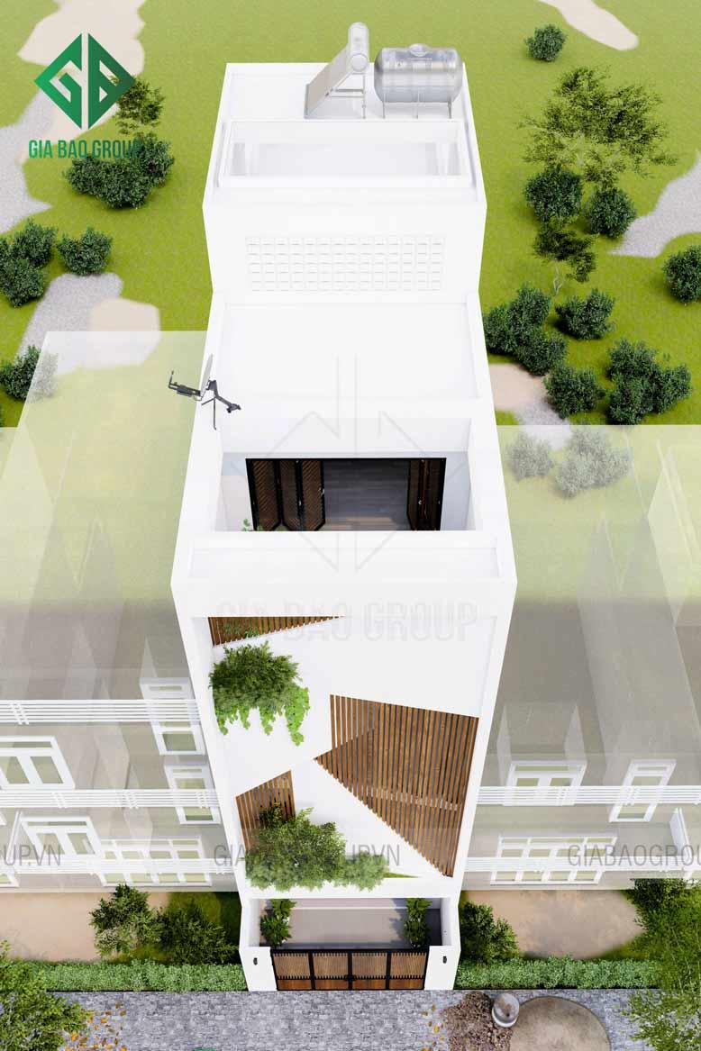 Mẫu thiết kế nhà phố 1 trệt 3 lầu hiện đại và tinh tế