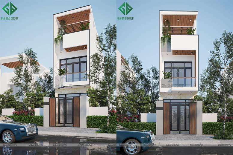 Thiết kế nhà phố 2 tầng đẹp, sang trọng, thời thượng ở Hóc Môn