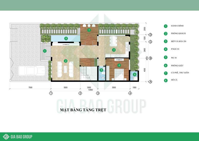 Tối ưu hoá công năng mặt bằng của thiết kế nhà biệt thự phố