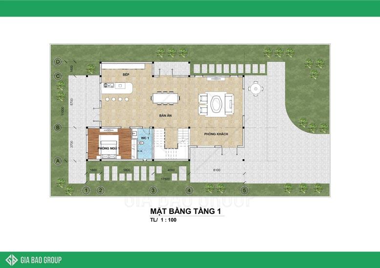 Thiết kế 3 tầng rộng rãi, hiện đại, tối ưu công năng sử dụng