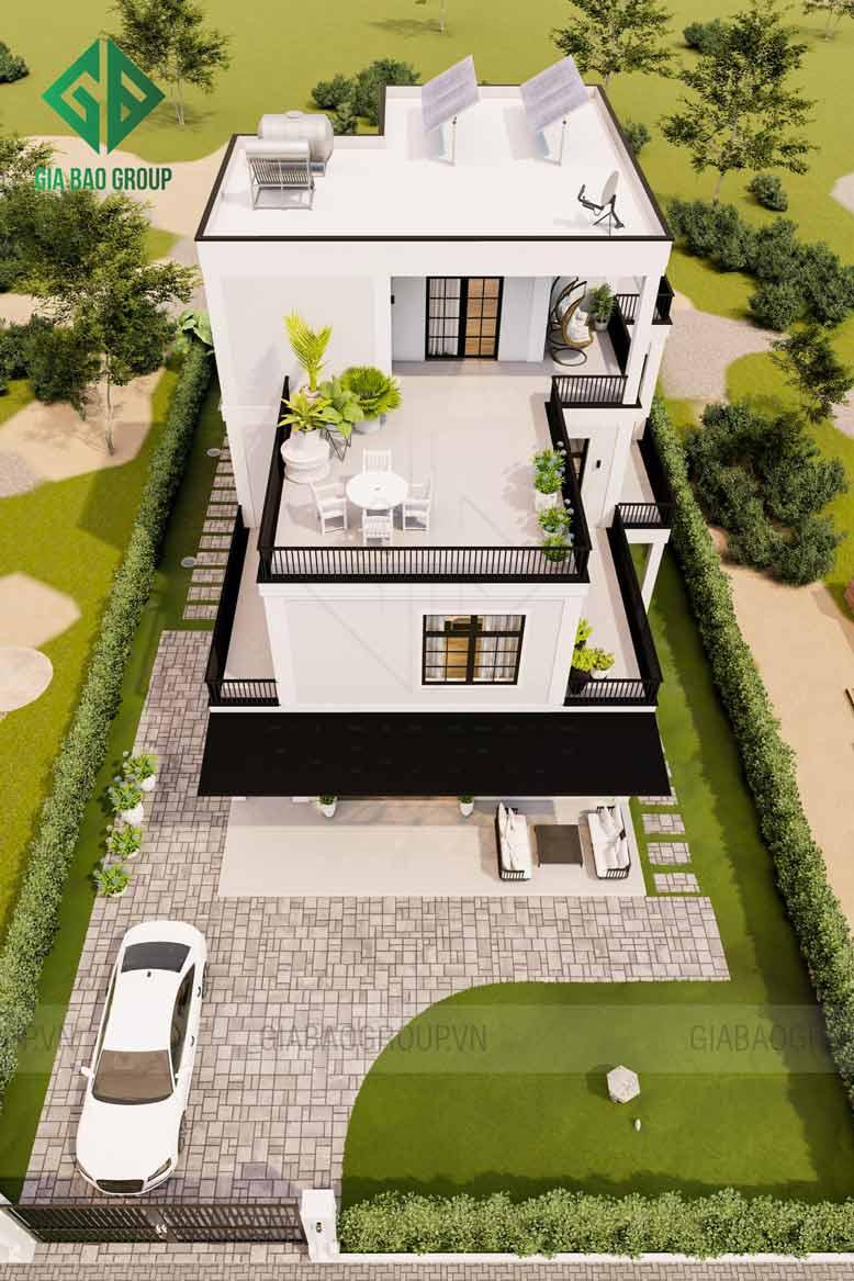 Tổng quan thiết kế mẫu biệt thự hiện đại 3 tầng tại Bình Dương
