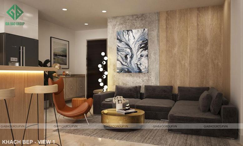 Thiết kế thi công căn hộ Q12 phong cách sang trọng và hiện đại