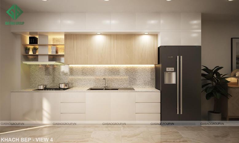 Màu sắc, nội thất trong thiết kế thi công căn hộ Q12 được chọn lựa phù hợp xu hướng hiện đại, tối giản nhưng mang lại vẻ đẹp sang trọng