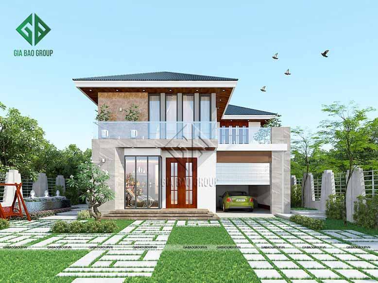 Ý tưởng thiết kế công trình biệt thự vườn nhà anh Lâm