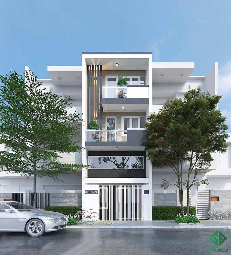 Tổng quan công trình thi công trọn gói nhà phố diện tích nhỏ bền vững theo thời gian