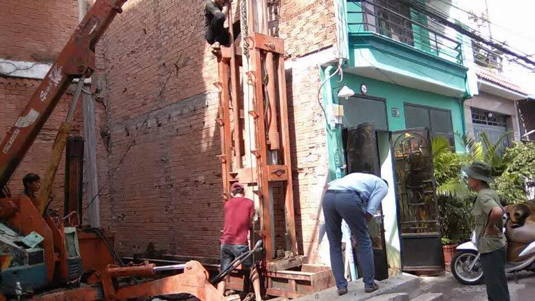 Thi công nền móng nhà phố diện tích nhỏ