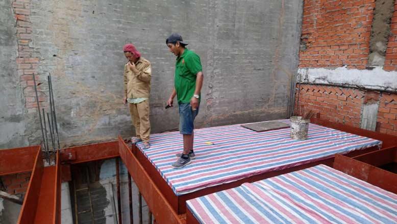 Hình ảnh thực tế tại công trình thi công trọn gói nhà phố diện tích nhỏ