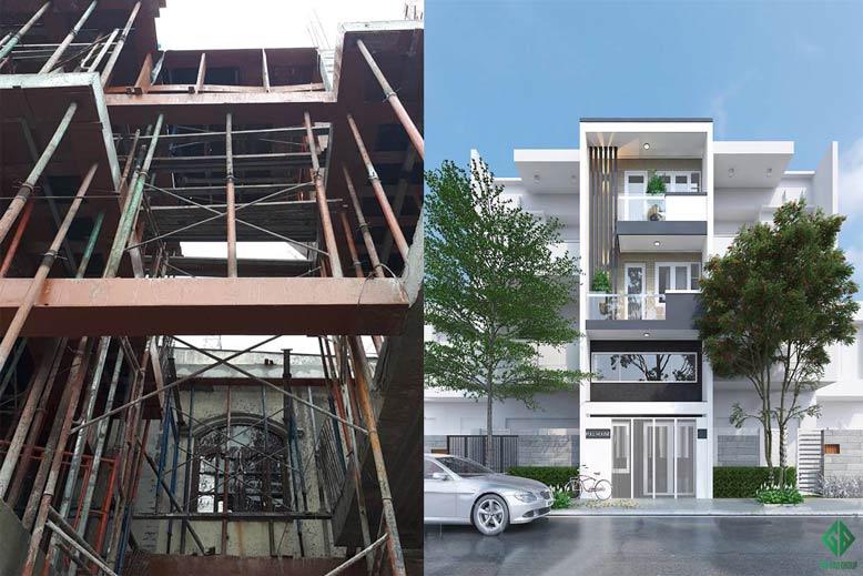 Thiết kế thi công trọn gói nhà phố diện tích nhỏ – Chị Phương, Tân Phú, HCM