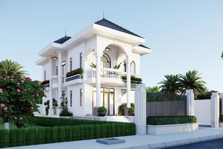 Thiết kế bên ngoài biệt thự mini phải đảm bảo tính hài hòa cân xứng