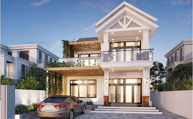 Chi phí xây dựng biệt thự mini 2 tầng không quá lớn