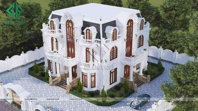 Mặt tiền biệt thự cổ điển được các kiến trúc sư chăm chút tỉ mỉ