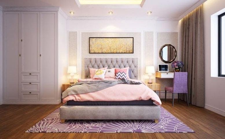 Màu sắc nội thất phòng ngủ hiện đại nhã nhặn tinh tế