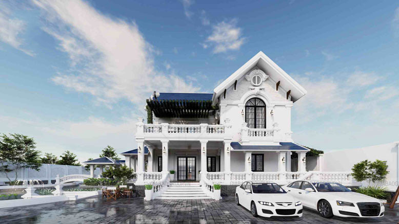 Ngắm mẫu biệt thự 2 tầng đẹp siêu lòng ở Long An