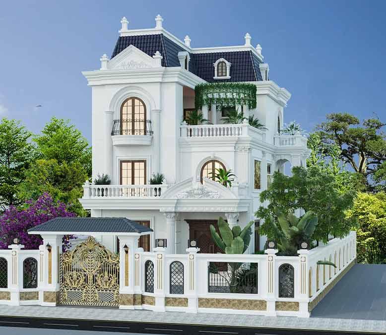 Biệt thự mini cổ điển với thiết kế bề thế, hoành tráng