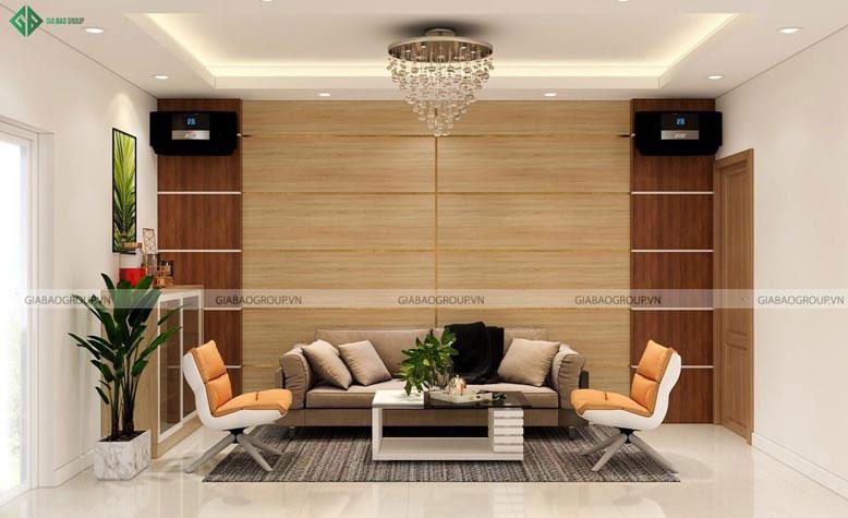 Nét đơn giản, trẻ trung của mẫu thiết kế nội thất phòng khách đẹp