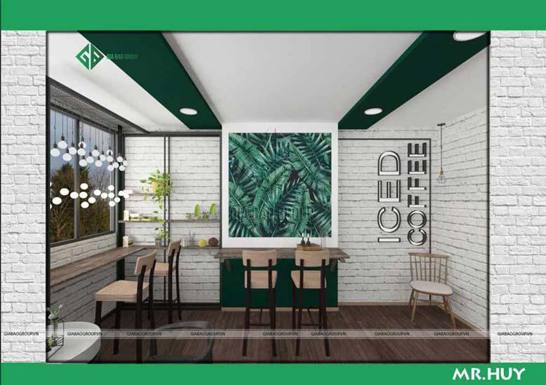 Báo giá thiết kế nội thất quán cà phê