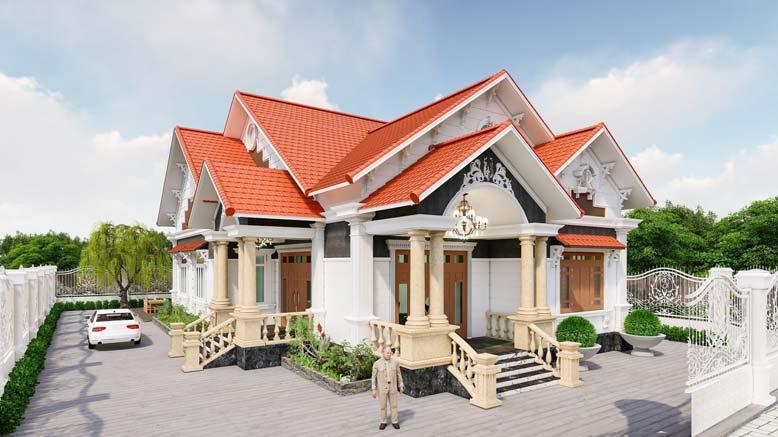 Ấn tượng với mẫu biệt thự mái thái đẹp