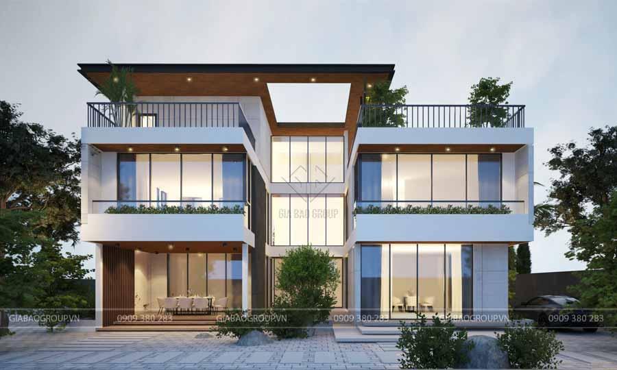 Biệt thự 2 tầng hiện đại, đơn giản