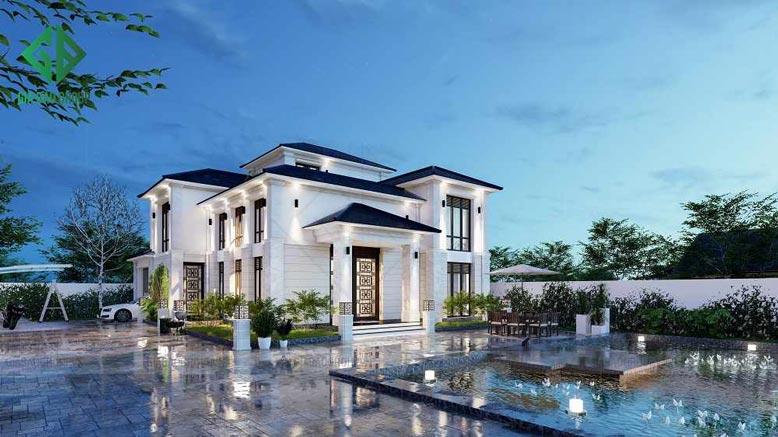 Biệt thự 2 tầng đẹp với phong cách hiện đại, đầy tinh tế