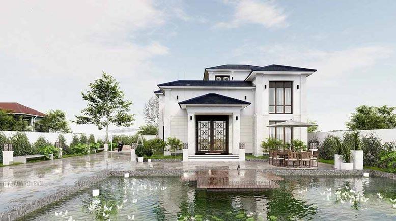 Chiêm ngưỡng mẫu biệt thự 2 tầng đẹp lung linh tại Bình Phước
