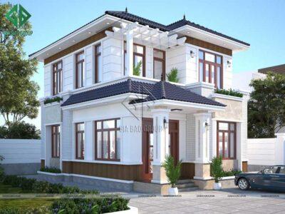 Thiết kế biệt thự 2 tầng hiện đại đẹp quên lối về tại DakNong