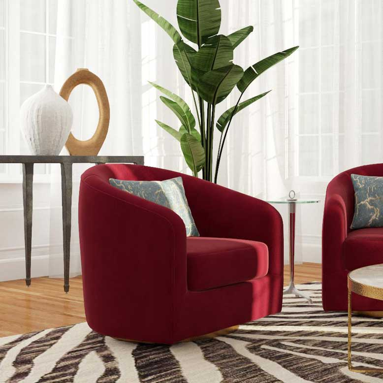 Mệnh hỏa hợp màu gì trong trang trí nội thất có thể kể đến sofa đỏ