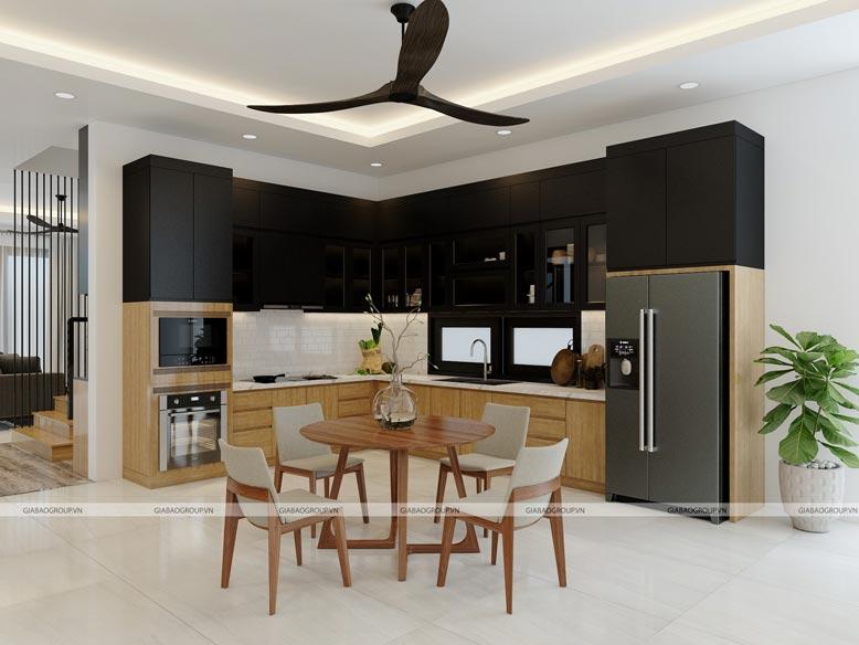 Gợi ý thiết kế nội thất bếp đẹp phong cách tối giản