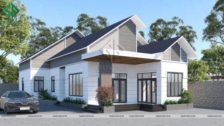 Thiết kế nhà cấp 4 mái Thái đẹp, hiện đại với chi phí thi công hợp lý
