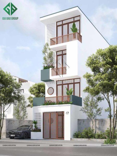 Mẫu nhà hiện đại 4 tầng đẹp đến phát thèm.